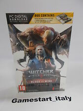 THE WITCHER III 3 WILD HUNT BLOOD AND WINE LIMITED - PC - NEW - PAL UK VERSION