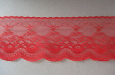 CRAFT-SEWING-LACE 3mtrs x 75mm Red Floral Design Lace