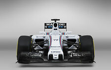 Incorniciato stampa-Williams Martini fw37 F1 Auto Da Corsa vista anteriore (formula one ART)