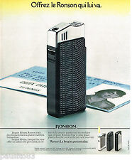 PUBLICITE ADVERTISING 075  1977  RONSON  briquet personnalisé             040715