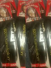 6 Packs of Kanekalon Braid Hair Color #4 Chocolate Brown