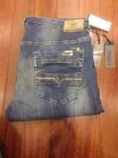 MENS BUFFALO DAVID BITTON Vintage Dirty WASH EVAN-X SLIM JEANS 38 X 32 NWT $119