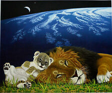 WILLIAM SCHIMMEL MOTHER EARTH, FATHER LION GICLEE SIGNED APC #42/50 W/COA