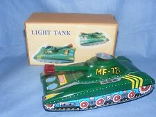 Tin Plate Toy Tank Light Tank Friction MF721 Moving Barrel Collectable Toy