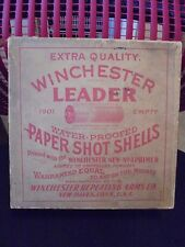 Antique WINCHESTER LEADER PAPER SHOT SHELLS 12 GA  SHELL BOX Empty