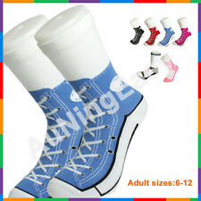 Free Blue Silly Sock Sneaker Socks Cotton Shoe Print gift Christmas Birthday A