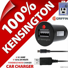 Kensington PowerBolt Micro USB 2.1A Fast Car Charger + 30 Pin Charge Sync Cable