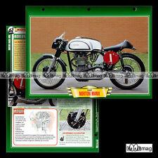 #401.26 Fiche Moto NORTON 500 MANX 40M 1946-62 Racing Bike Motorcycle Card
