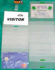 ID badge support & sachets stratifiés bord long fente
