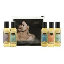 Kama Sutra Massage Oils Therapy Kit Gift Set: 5 Assorted 2 oz. Bottles