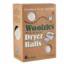 Woolzies, Wool Dryer Ball, set of 6 ,Natural Fabric Softener, New, Free Shipping