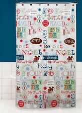New Saturday Knight Bathroom Peva Shower Curtain Winter Wishes Christmas Joy