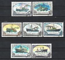 Bateaux URSS (99) série complète de 7 timbres oblitérés