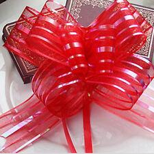 10X 50mm Organza Ribbon Pull Bows  Wedding Car Decor Gift Wrap