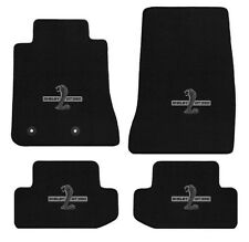 New! 2015-2016 Mustang BLACK Floor Mat Set Shelby Snake Gt350 Embroidered Logo