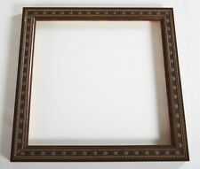 "BROWN GOLD 1"" Beaded Wood Picture Artwork Frame, 10"" x 10"" Opening, Wood Frame"