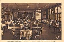 CPA 74 AMPHION UN COIN DE LA SALLE A MANGER HOTEL DE LA PLAGE