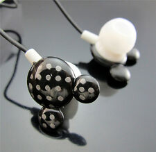 FREE  Black Mickey In Ear Style Bass Earbuds Headphones Earphones 3.5mm Plug MP3