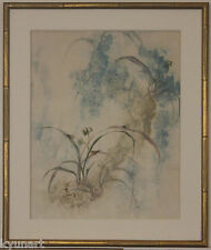Listed Chinese Artist PANG TSENG-YING, Original Signed Gouache And Watercolor