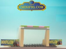 Custom LEGO Soccer Accessaries Goal, Net, Base and 2 Advertisement Boards #1c7A
