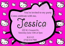 Hello Kitty Template/Baby Shower or Birthday Party Invites DIY (S1)