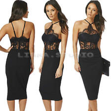 SEXY WOMEN LADY BODYCON LACE DRESS COCKTAIL PARTY EVENING NIGHT CLUB DRESSES