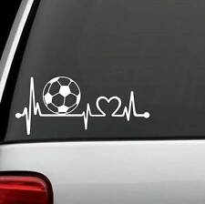 K1110 Soccer Ball Heartbeat Monitor Decal Sticker Car Truck SUV Laptop Surface