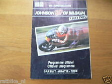 1985 JOHNSON GRAND PRIX BELGIUM SPA FRANCORCHAMPS 7-7-1985 PROGRAMMA