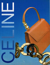 PUBLICITE ADVERTISING 074  1993  CELINE  boutique maroquinerie sacs