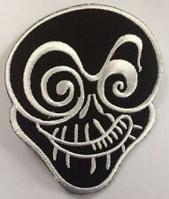 JOKER SKULL PATCH black; SEW-ON / IRON-ON **BN** embroidered, high quality