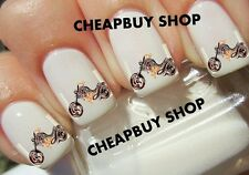 Top Quality《SEXY HOT MOTORCYCLE LOVER LOGO》Tattoo Nail Art Decals