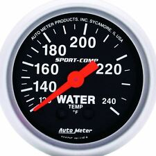 "AutoMeter 3332 Gauge, Water Temp, 2 1/16"", 120-240ºF, Mechanical, Sport-Comp"