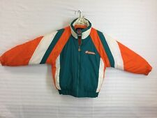 """Vintage NFL Game Day """"Miami Dolphins"""" Zipper Puffy Jacket, Sz L"""