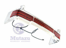 Mutazu King Tour Pak Chrome LED Light Bar for 97-up Harley Touring Electra Ultra