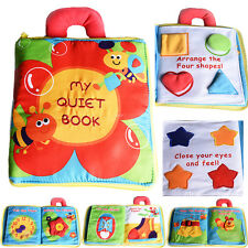 Baby Kids 3D Intelligence Development Cloth Bed Book Flower Educational Toy