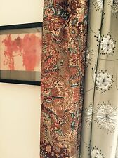Big vtg Liberty of London curtain 50's 60's mid-century danish era fabric door