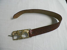 Old Vintage Leather Cap Gun Belt Cowboy Pistol Belt Buckle