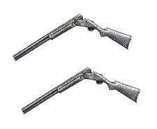 Broken Shotgun G33 Fine English Pewter Cufflinks Handmade In Sheffield
