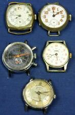 W 62.  WATCH MAKER 5 VINTAGE MECHANICAL GENTS WRIST WATCHES, BULOVA 30J, LUCERNE