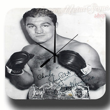ROCKY MARCIANO ` BOXING GYM   VINTAGE RETRO  METAL TIN SIGN WALL CLOCK