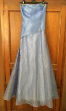 ⛵️ KIKI Blue Strapless Low/Bare Back Long Evening Gown Prom Formal Dress XL