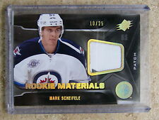 11-12 UD SPx Rookie Materials #RM-MS Patch MARK SCHEIFELE #10/25