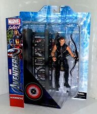 MARVEL SELECT Avengers Movie HAWKEYE Jeremy Renner Action Figure 2012 - RARE - A