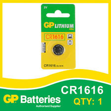 GP Lithium Button Battery CR1616 (DL1616) card of 1 [WATCH & CALCULATOR + OTHER]