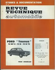 (48B) REVUE TECHNIQUE AUTOMOBILE FORD TAUNUS 12 MP 6 - 15 M - 15 M TS