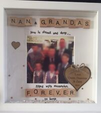 Ideal Xmas Gift Personalised Nana Granda/Nan And Grandad Photo Frame