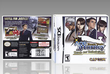 "BOITIER ""ACE ATTORNEY TRIALS AND TRIBULATIONS"",NINTENDO DS, SANS LE JEU.NO GAME."