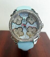 Jacob & Co Five Time Zones Blue Flower Diamond Watch MSRP $20,100.00