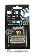 NEW Braun Series 5 51s Foil And Cutter Replacement Pack razor blade (8000 360)