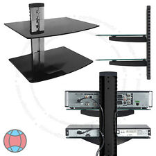 Tv Wall Mount Bracket De Doble Piso folating Estantes De Cristal Dvd Sky Box Lcd Led